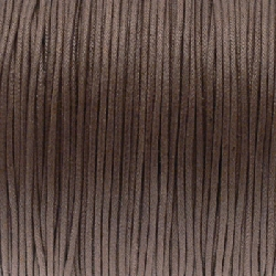 Fil Coton 1mm marron kaki (x 2m)