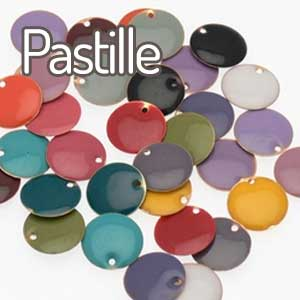 perles ronde pastille emaillee