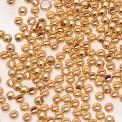 Perle à Ecraser (Ø4mm) Maxi couleur or (x 20)